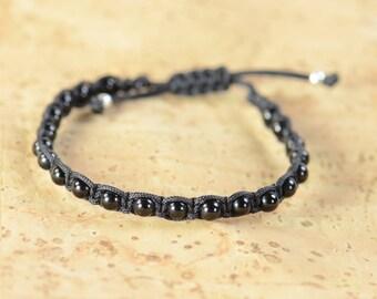 Black Tourmaline bracelet.Macrame bracelet
