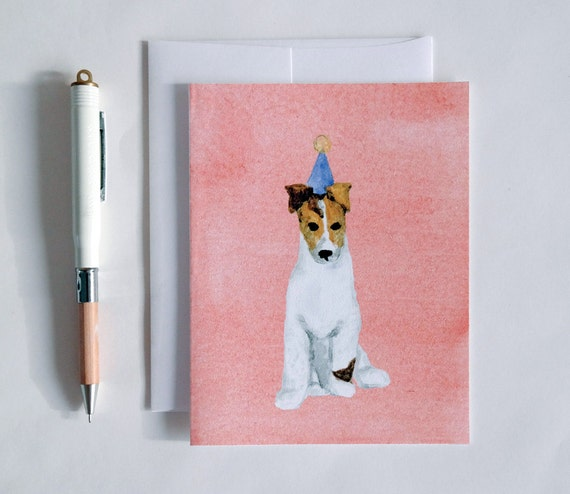 Greeting Card: Party Dog IX