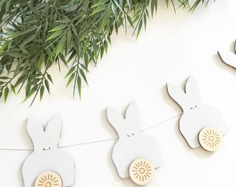 Peter Cottontail garland / easter / bunny wall decoration / nursery decor / wooden signs // garland // nursery wall hanging // banner