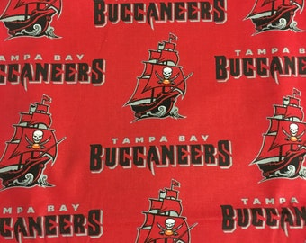 TAMPA BAY BUCCANEERS Cotton Fabric 2 yards