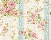 Emma 2 Collection   by From Robert Kaufman Slate Floral On Stripe   SRK672368