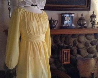 Regency Gown Jane Austen Dress Sash Chocker Mop Hat