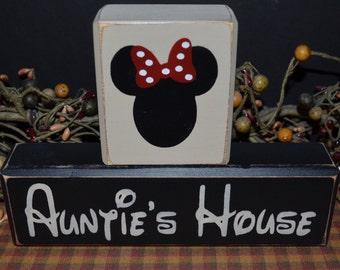 Auntie's House primitive wood blocks