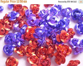 50% OFF - 70 pcs 2 Colors ALUMINIUM FLOWER Rose Bead Cabochons