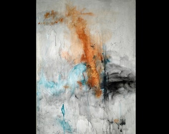 Original abstract large canvas painting - Ever Changing