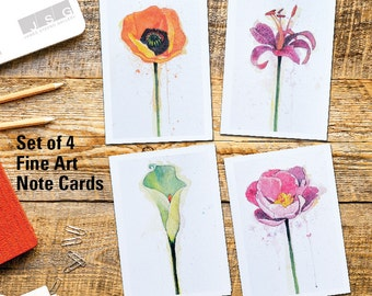 Splashes of Color Note Card Set of 4