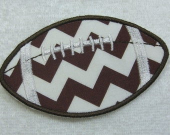 Football Fabric Embroidered Iron On or Sew On Applique Patch Ready to Ship