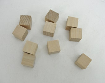 """Wooden cube 5/8"""",  dice size wooden cube, diy dice, set of 10"""
