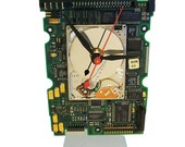 Apple iPod Hard Drive Clock on a Circuit Board all recycled. About Time! FREE SHIPPING USA!