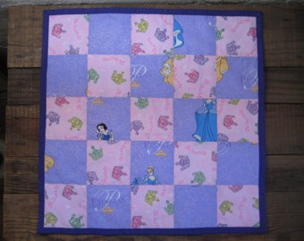 Princess Quilted Toddler Snuggle Blankie or Doll Blanket