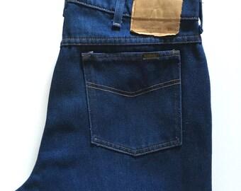 Vintage Men's 70's Deadstock, Roebucks Jeans, Straight Leg, Long (W35 x L33)