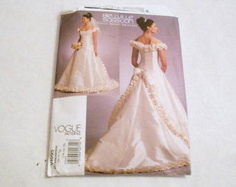 Womens  Vogue Wedding Gown Pattern Uncut size 12 14 16  Bellville Sassoon Corset