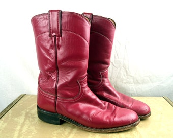 Vintage Rose Pink Women's Justin Cowboy Boots - Size 7 1/2