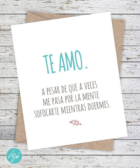 Spanish Card Tarjeta En Espaol Funny Boyfriend Card