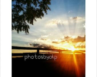 8 x 10 Kentucky Sunset photo print
