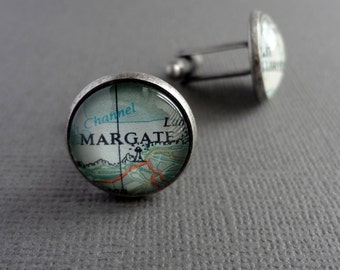 Personalized Map Jewelry, Custom Cufflinks