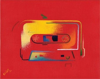 Ode to the Cassette Era 2 (original painting)