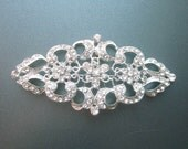 Large Rhinestone Brooch Pendant Crystal Wedding Jewelry