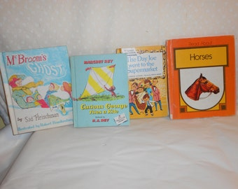 Children s Books Curious George Mc Broom's Ghost, Joe Went to Supermarket, Horses