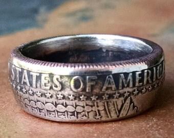 Kennedy Half Dollar Coin Ring - 1986 US Half Dollar Coin Ring - Size: 10