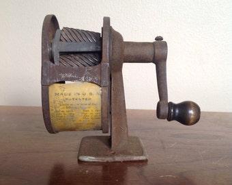 Vintage Antique Rusty Pencil Sharpener. Office Decor. Old School.