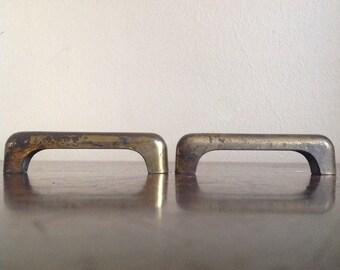Pair of Vintage Brass Furniture Drawer Pulls.