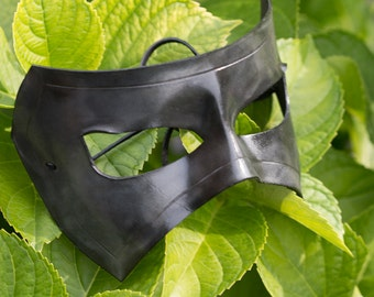 Charcoal Black Leather Mask