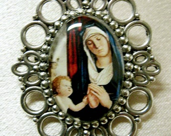 Madonna and child brooch - BR04-103