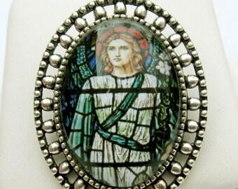 Archangel Gabriel brooch/pin - BR02-051