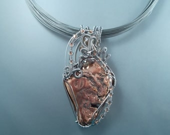 Ware-able Art - Michigan Float Copper / Stainless Steel / Wire Wrapped Pendant