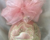 Hand Painted Roses, Christmas Ornament by MontanaRosePainter, Signed. One of a Kind...Item #364
