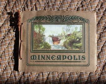 Antique Souvenir Booklet 1911 Tourism Photo Brochure of Minneapolis MN Tinted Photographs VINTAGE by Plantdreaming