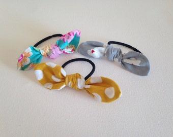 Spring collection elastic hair bows 3 set