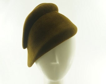 Tobacco Brown CLOCHE HAT for Women / Vintage Style Fur Felt Hat / Handmade by Marcia Lacher Hats
