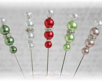 Christmas Stick pins for Scrapbooking,Cardmaking, Mini Album, Tag Art