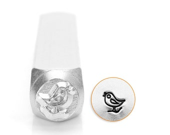 Song Bird Design Stamp -  6mm Metal Stamp