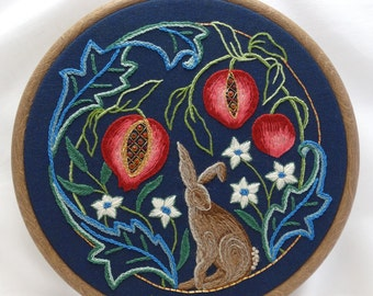 Distance learning hand embroidery class - 'Love, Sin and Morality'
