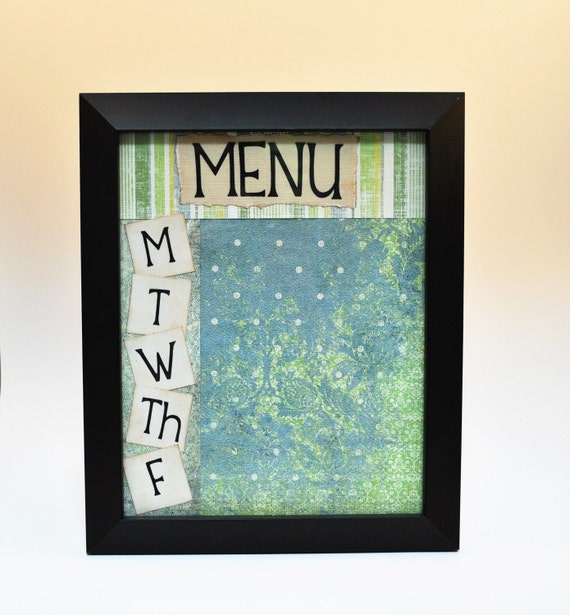 Dry Erase Menu Board, Cottage Chic Dry Erase Menu Frame, 8x10 Black ...