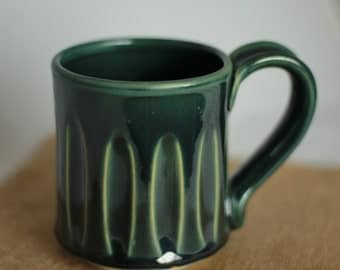 Clearance! Wheel thrown pottery coffee mug