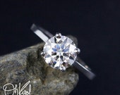 VALENTINES DAY SALE Amora Gem Ultra Hearts and Arrow 4 Prong Solitaire Engagement Ring - Solid 14kt Gold