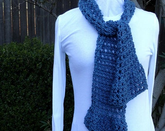 Knitted Scarf Pattern With Pointed Ends : Crochet bias Etsy