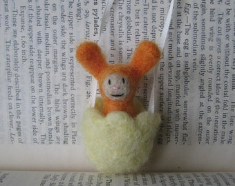 Little Bunny in Tulip Ribbon Necklace