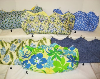 Blue Tones Spring Flowers Covers for Purses