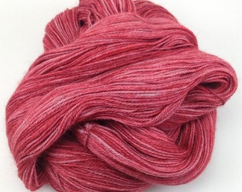 Fingering weight yarn, Upstream Delight - baby alpaca, silk, cashmere, Russet