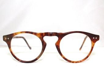 Eyeglasses 1940s 50s  Key Hole style , Tortoise  Frame/ can op /rh421