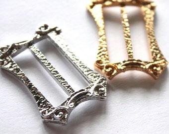 Vintage 1970s Art Nouveau Brass Belt Buckle Stamping // 60s 70s Metal Buckle // NOS // Titanic Era Buckle