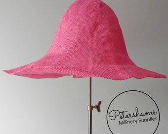 Visca Capeline Hat Body (Stiffened) for Millinery & Hat Making - Candy Pink