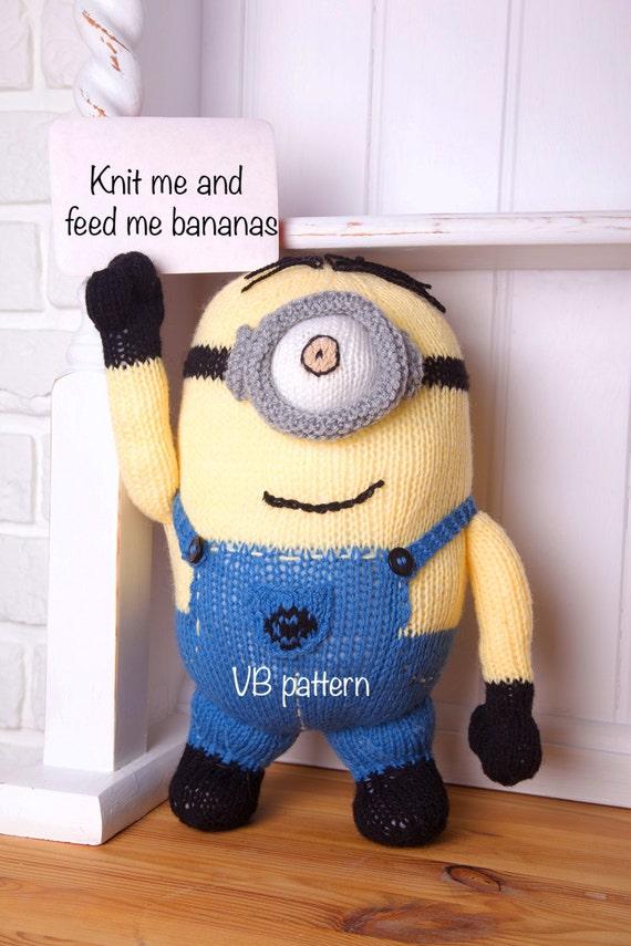 Knitting Pattern Minion Toy : Minion soft toy knitting pattern. You will love it Instant