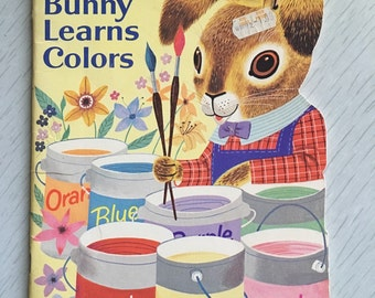 """Kids Easter Bunny book """"Little Bunny Learns Colors"""""""