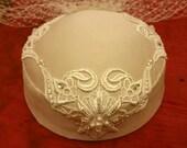 Louisa Custom Bridal Pillbox Hat Wedding Veil